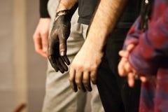 朱利奥Masieri的肮脏的手 免版税图库摄影
