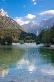 朱利安阿尔卑斯在斯洛文尼亚 免版税库存照片