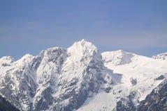 朱利安阿尔卑斯山山景在冬天, Mt Stenar和Mt Kriz 免版税图库摄影