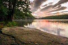 朱利安Price湖海岸线 库存图片