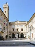 朱塞佩・加里波底广场,洛雷托省意大利 免版税图库摄影