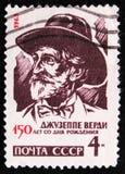 朱塞佩・韦尔季1813-1901,意大利作曲家, 150诞生周年,大约1963年 免版税库存图片