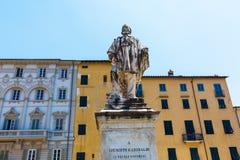 朱塞佩・加里波底雕象在卢卡,意大利 免版税库存照片