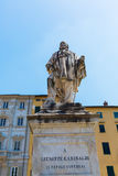 朱塞佩・加里波底雕象在卢卡,意大利 库存图片