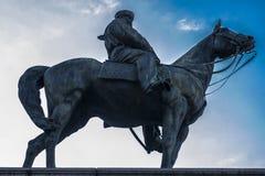 朱塞佩・加里波底雕象(1807-1882) 库存照片
