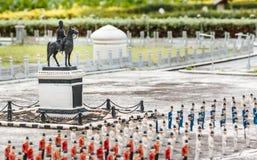 朱拉隆功Monument国王在微型泰国公园 泰国 免版税库存照片