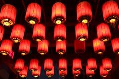 朱红色的灯笼中国 免版税库存图片