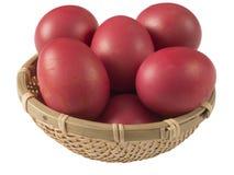 朱红色的鸡蛋 免版税库存照片