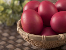 朱红色的鸡蛋 免版税图库摄影