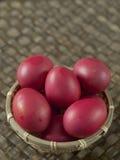 朱红色的鸡蛋 库存图片