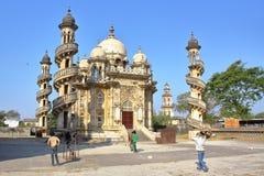 朱纳格特,古杰雷特,印度- 2013年12月31日:Mahabat Maqbara陵墓 免版税库存图片
