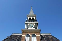 朱莉安娜施洗约翰教堂在荷兰弗里斯兰省人村庄 免版税库存图片
