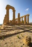 朱诺寺庙寺庙的谷的,阿哥里根托,意大利 库存图片