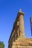 朱诺希腊寺庙在阿哥里根托-西西里岛,意大利 库存照片