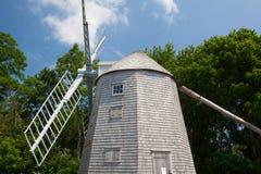 朱达贝克风车在南Yarmouth,美国 库存照片