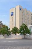 朱鹭预算旅馆在红葡萄酒,法国 免版税图库摄影