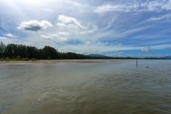 朴蒙山海滩andaman,董里府,泰国 免版税图库摄影