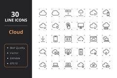30朵云彩线象 库存图片