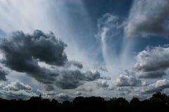 3朵云彩 库存照片
