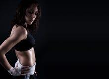 机体女性健身 免版税库存照片