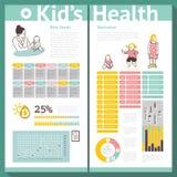 机体按钮心脏绘制克图形人力infographics内部医疗器官加上介绍集 接种 儿科医生 免版税库存图片