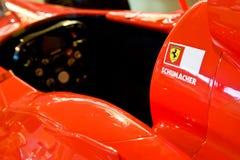 机体汽车名字红色shumacker体育运动 库存图片