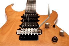 机体特写镜头电吉他 免版税库存图片