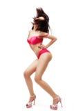 机体舞蹈演员女性查出的性感 免版税库存图片