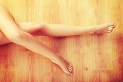 机体裸体性感的妇女 免版税库存照片