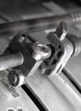 机制印刷机的片段 免版税库存图片