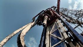 机制的操作在钻井平台的 影视素材