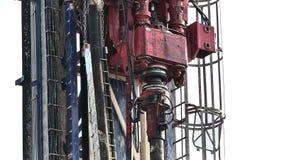 机制的操作在钻井平台的 股票录像