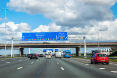 A4机动车路在荷兰 库存图片