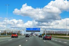 A4机动车路在荷兰 免版税库存照片
