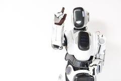 机器人与未看见的触摸屏幕一起使用 免版税库存图片