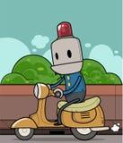 机器人乘驾滑行车 库存例证