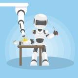 机器人修理自己 免版税库存照片