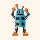 机器人动画片题材元素传染媒介, eps 库存例证
