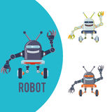 机器人和技术设计 免版税库存图片