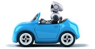 机器人和汽车 向量例证