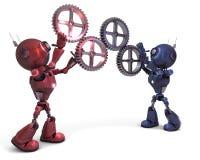 机器人和齿轮 库存照片