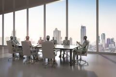 机器人在会议室 库存例证
