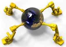 机器人地球 库存图片