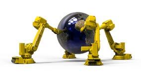 机器人地球 库存照片