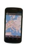 机器人基于设备Google Maps 库存照片