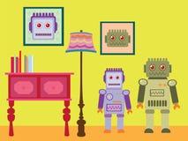 机器人墙纸 免版税库存照片
