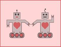 机器人夫妇 免版税库存图片