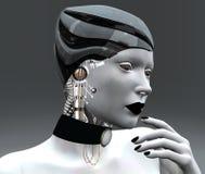 机器人女性 免版税库存照片