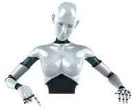 机器人妇女 免版税库存照片