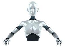 机器人妇女 免版税库存图片